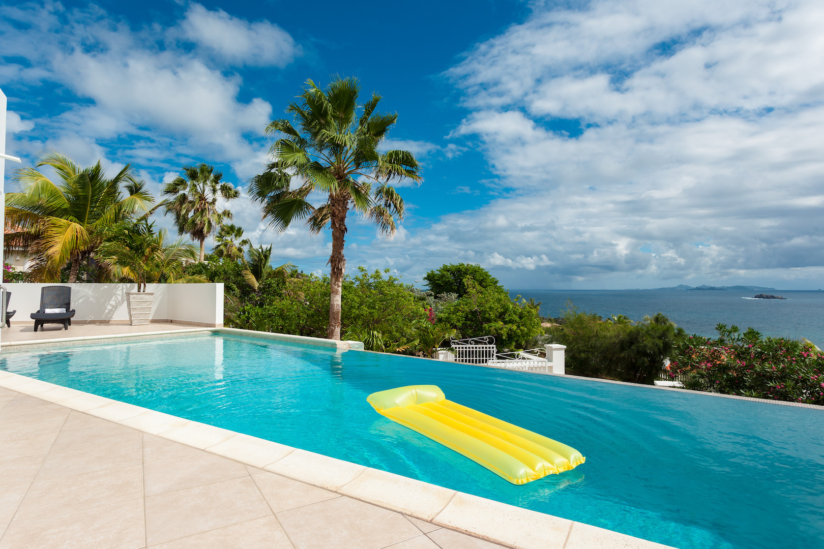 Pool with view of Beach